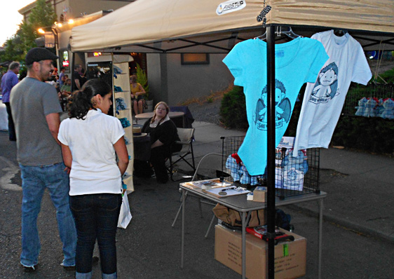 The Sperel's First Ever Vendor Booth Setup; Last Thursday - Portland Oregon, September 2011