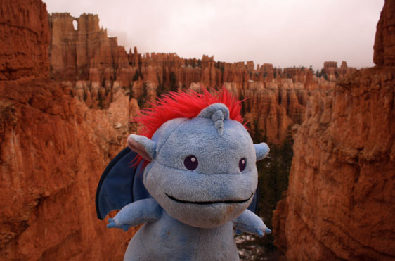 Among the hoodoos of Peek-A-Boo Loop in Bryce Canyon National Park, UT