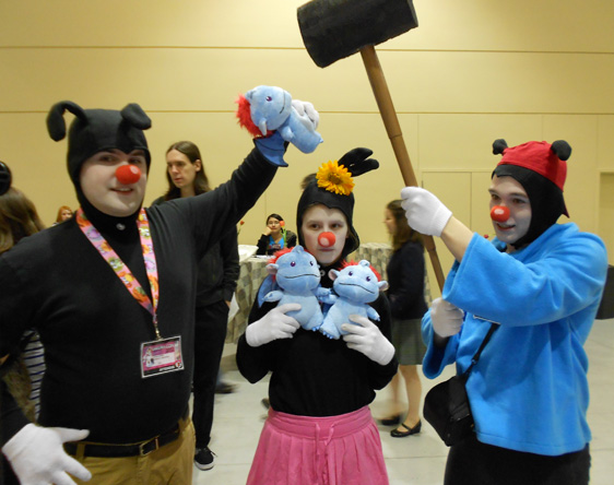 The Animaniacs, being their mischievous selves at our Sakura-Con table