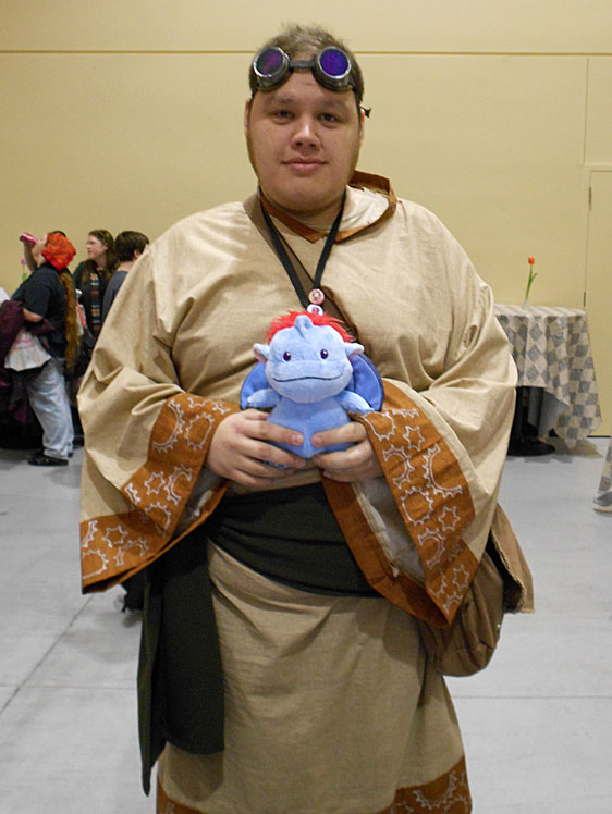 Cosplaying a character of his own design at Sakura-Con 2012