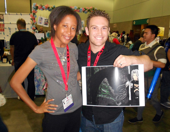 J.Raye meeting Bryce Papenbrook, voice actor for Final Fantasy IX's Zidane Tribal